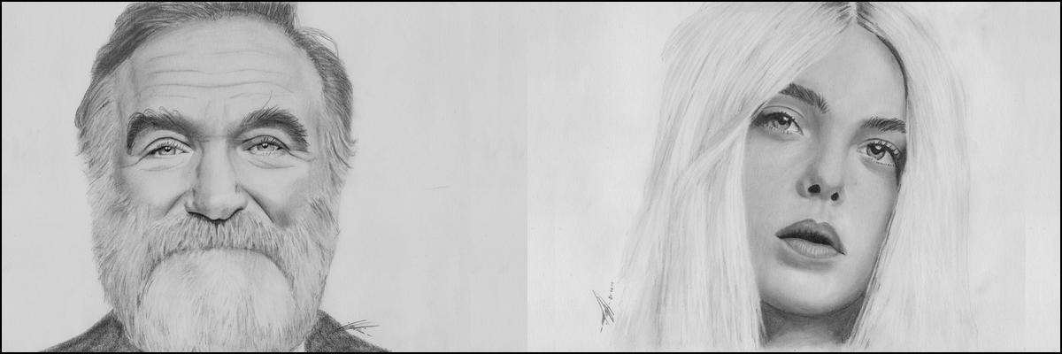 Bleistiftportrait Galerie Banner